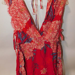 NWT Free People Floral Tunic size Small